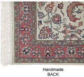 handmade rug back
