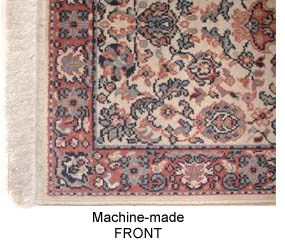 machine made rug front